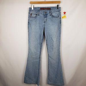 Mudd Flare Leg Jeans Juniors Sz 7 Stretch Blue